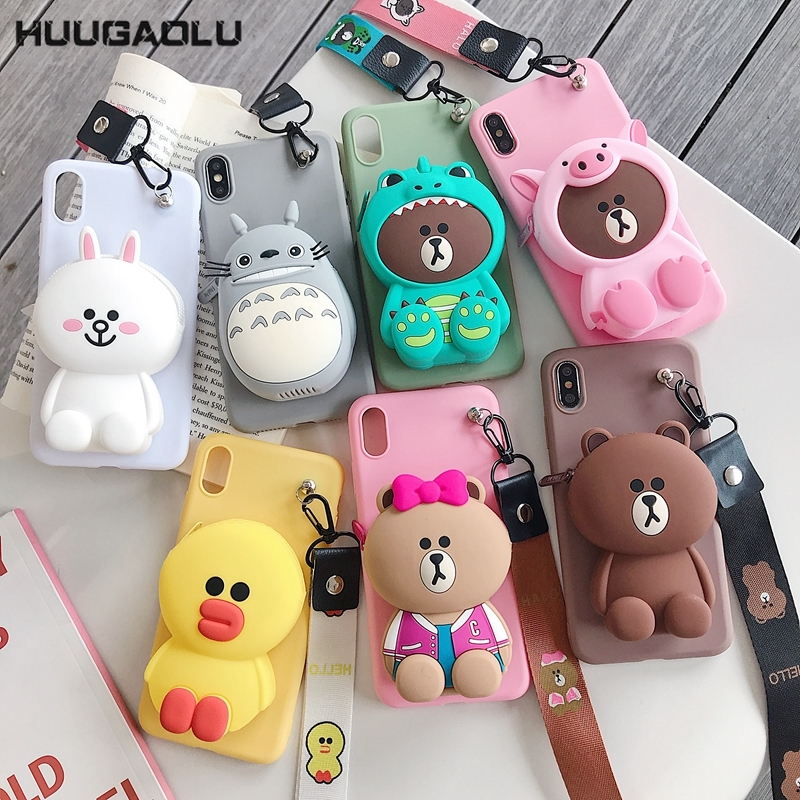Zipper Wallet Cartoon Case For <font><b>Samsung</b></font> Galaxy <font><b>A70</b></font> A60 A50 A20E A10E A30 A40 A20 A10 A80 M40 M30 M20 M10 A2 Core Cover Etui Coque image