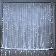 3M x 3M 300 LED Home Outdoor Holiday boże narodzenie dekoracyjne wesele Xmas sznurek bajkowa zasłona pasek girlandy oświetlenie imprezowe