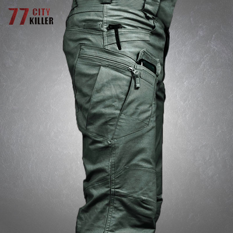 Tactical Cargo Pants Men Military Waterproof SWAT Combat Trousers Male Multiple Pocket Breathable Army Pant Mens Work Joggers