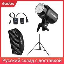 Godox lámpara estroboscópica para Flash, E250 250Ws, para estudio de fotografía, panal de abeja de 50x70cm, gatillo AT 16, soporte de luz de 180cm, Kit de Flash