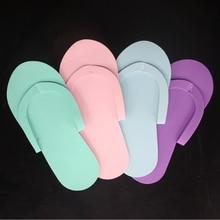12 Paar Indoor Wegwerp Slippers Voor Pedicure Salon Hotel Gebruik Foam Flip Flops Nieuw 26.5X7.5Cm Voetverzorging