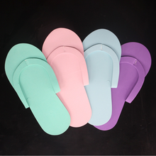 12Pair Indoor Disposable Slippers for Pedicure Salon Hotel Usage Foam Flip Flops New 26.5x7.5cm Foot Care
