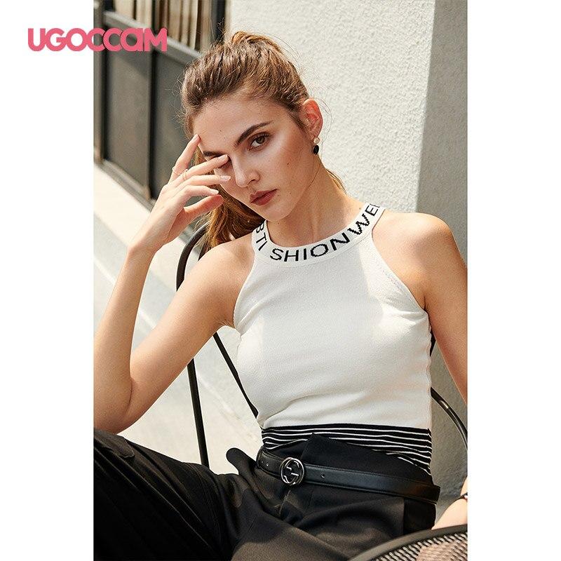 UGOCCAM   Top   Women Sexy Women Solid Crop Strappy   Tank     Top   Sexy   Top   Streetwear Summer Sleeveless Beach Women Sports Haut Femme