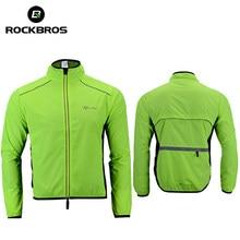 ROCKBROS-Chaqueta de ciclismo para hombre y mujer, Jersey transpirable, a prueba de viento, abrigo reflectante de secado rápido, equipo deportivo
