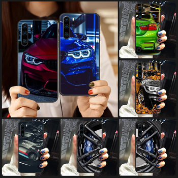 Blue Red Car for Bmw Phone Case Cover Hull For Huawei P8 P9 P10 P20 P30 P40 Lite Pro Plus smart Z 2019 black prime fashion funda image