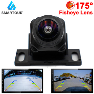 Smartour 175 Degree HD 1080P Vehicle Rear View Camera Car Reverse Black Fisheye Lens Night Vision Waterproof Universal