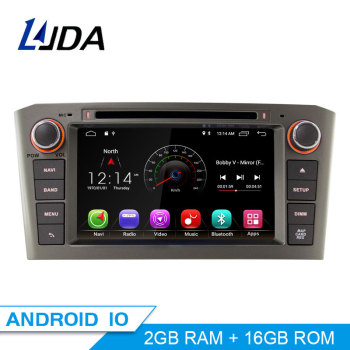 LJDA 2 Din Android 10.0 Car DVD Player For Toyota Avensis T25 2003-2008 Wifi GPS Radio 2GB RAM 16G ROM Quad Cores Multimedia USB