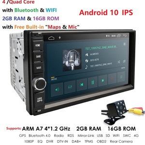Quad Core Android 10 4G WIFI Double 2 DIN Car DVD Player Radio Stereo GPS Navi RED DVR DAB SWC BT MAP Mirror-link 2G RAM FM/AM