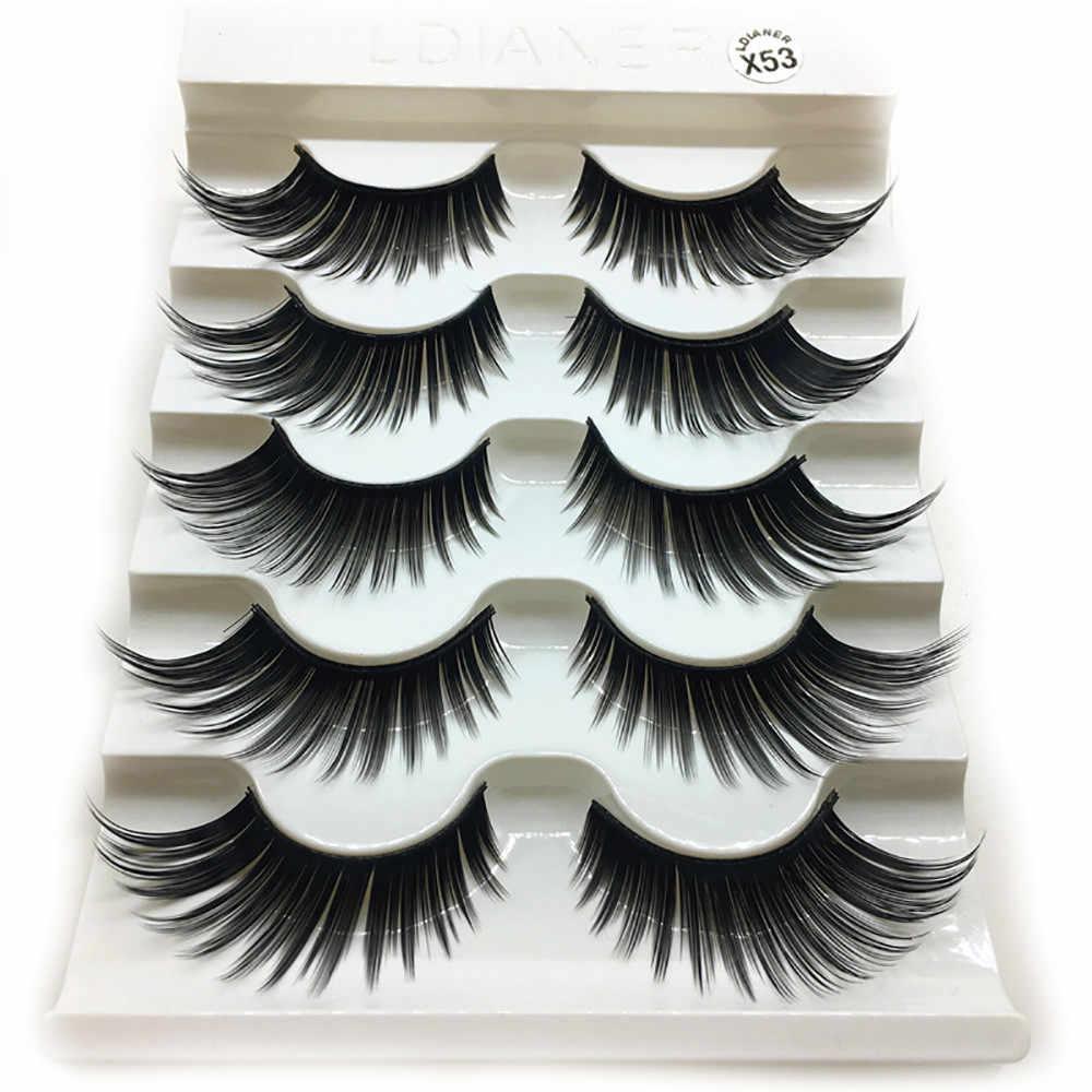 1 caixa de luxo 3d cílios postiços cílios makeup cílios makeup natural longo preto e brilhante dec