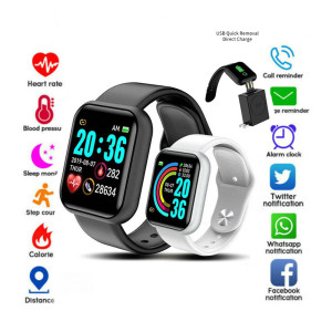 High Quality Waterproof Watch Men Women Sports Watches Full Screen Bluetooth Wristband Blood Pressure Heart Rate Monitor Fitness
