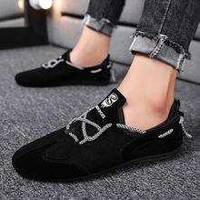 Spring Autumn Men Casual Shoes Light Breathable Fashion Loafers Driving Doug Shoes For Man X033 недорого