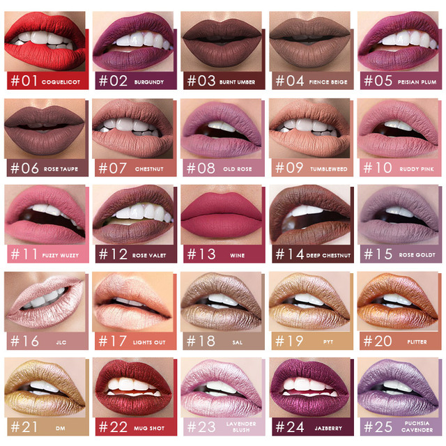 FOCALLURE Matte Lipgloss Sexy Liquid Lipstick Matte Long Lasting Waterproof Cosmetic Beauty Keep 24 Hours Makeup lipgloss 1