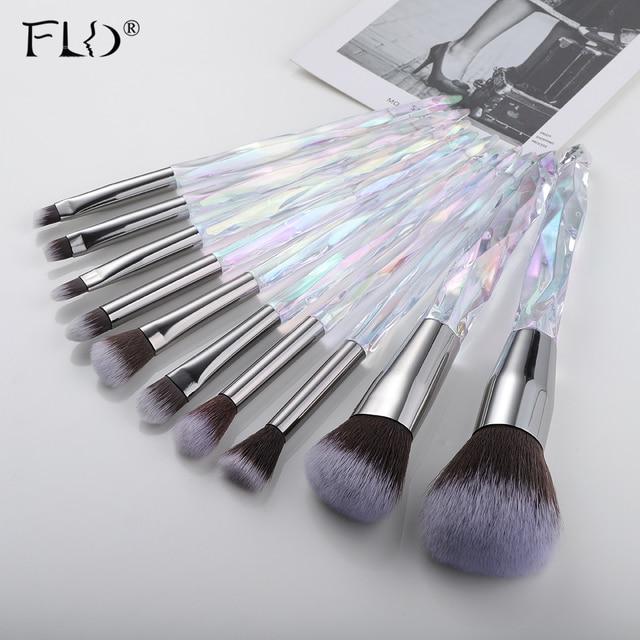 FLD 10Pcs Makeup Brush Set Foundation Blush Brushes Eyeliner Eyebrow Concealer Brush Set Makeup Tool Kit Cosmetic Kit 2
