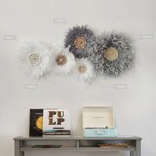 FEATHER Wall ตกแต่งจี้ผนัง Creative Tapestry Wall แขวน Boho Decor Room ข้างเตียงหรูหราแขวนผนัง Hippie