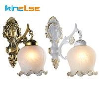 Europea LED lámpara de pared Retro Vintage vidrio E27 Lampada dormitorio cabecera candelabros Sala escalera casa decoración de pared luces Accesorios