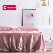 Sondeson Luxury Pink Beauty 100 Silk Flat Sheet 25 Momme Silk Queen King Beauty Healthy Skin