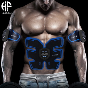 HUIFAN Muscle Stimulator Abdominal Musculaire Electro stimulation Stimulateur ABS EMS trainer Home Gym Arm Leg Massage USB(China)
