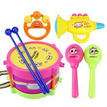 5 шт., новинка, детский барабан, музыкальные ударные инструменты, набор, обучающая игрушка для детей, подарочный набор для малышей