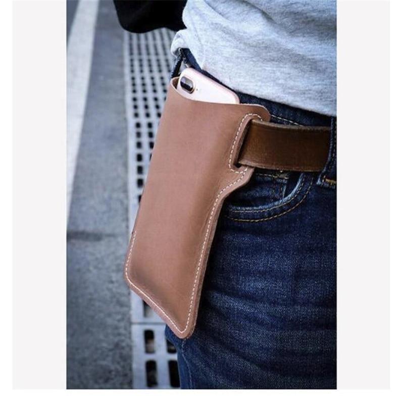 Retro Short Cell Phone Case Belt Bag Purse