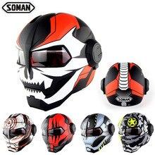 Casco Depredador Dot Capacetes Flip Up Motorrad Helm Breathable Capacete Airoh Motocycle Helmet Motor Cycle Kask