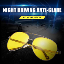 AIELBRO Anti-glare Polarized Sunglasses Copper Alloy Frame Car Drivers Night Vision Goggles Fashion Driving Glasses Men Women
