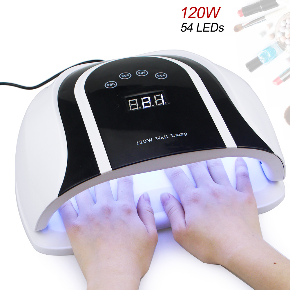 120W UV LED Lamp For Nails Dryer Two Hand Ice Lamp 54 LEDSFor Manicure Gel Nail Lamp Drying Lamp For Gel Varnish