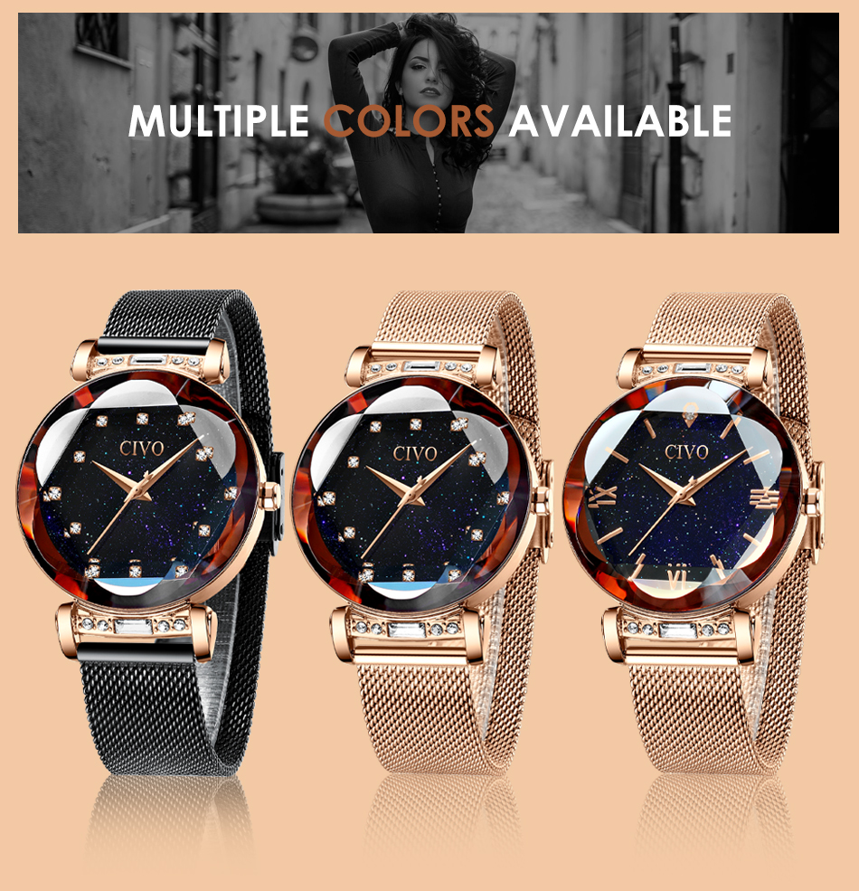 CIVO fashion women watch luxury