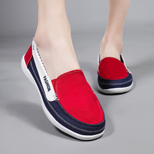 Women Flats Canvas Sneakers Slip On Casual Lady Canvas Shoes Loafers Breathable Female Espadrilles Driving Shoes Zapatos Mujer e lov vintage design postage stamp and emblem printed canvas shoes high end customzied women casual flats zapatos mujer