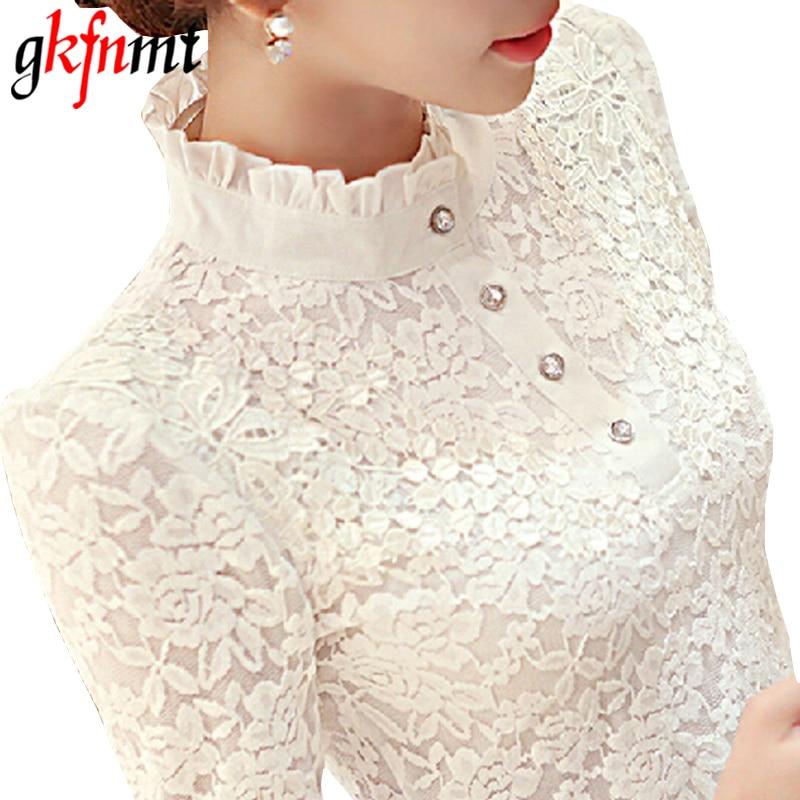 Top Femme 2019 Autumn Winter Blouses For Women Long Sleeve Lace Floral Patchwork Blouse Shirts Casual Tops Blusas Plus Size 3XL