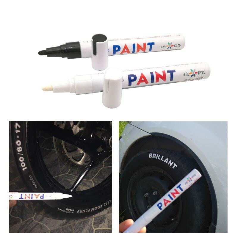 1pc Car Wheel Tire Oily Mark Pen Waterproof Auto Tyre Rubber Tyre Tread CD Metal Paint Marker Graffiti Dropshipping