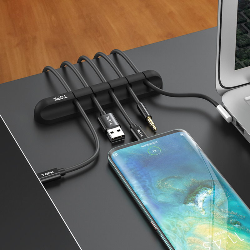 Cable Clips Cord Organizer Desktop Wire Holder Management for Earphone PC