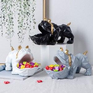 Скандинавские Счастливые Собаки Геометрические Животные Скульптура орнамент украшения журнальный столик конфетная тарелка дверь обувной...