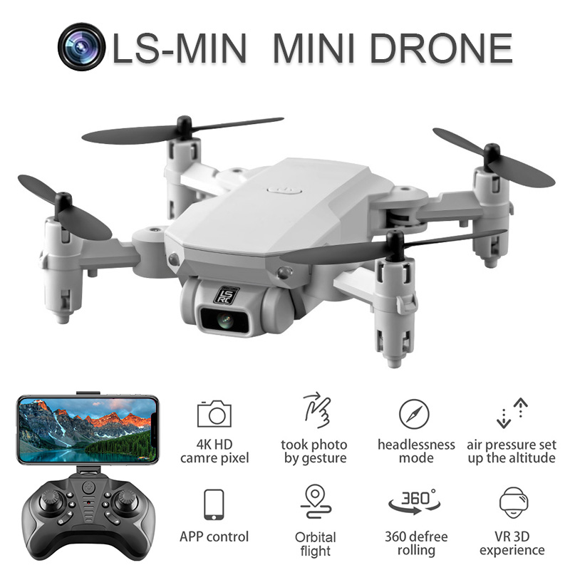2020 New Mini Drone 4K 1080P HD Camera WiFi Fpv Air Pressure Altitude Hold Black And Gray Foldable Quadcopter RC Dron Toy