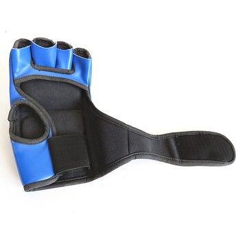 Adult MMA Boxing Sandbag Fight Combat Training Faux Leather Half Finger Gloves Tools for Muay Thai Karate Muay Free Fight Sanda 2