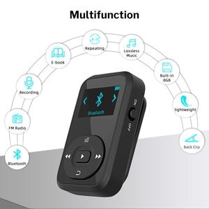 Image 2 - Deelife Correndo MP3 Jogar Com fone de ouvido Bluetooth Esporte Clipe Braçadeira 8GB MP 3 Jogadores de Música de Alta Fidelidade de Rádio Mini para Esportes