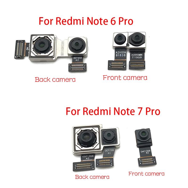 Back Rear Camera Module Flex Cable +Front Facing Camera Replacement For Xiaomi Redmi Note 6 7 Pro