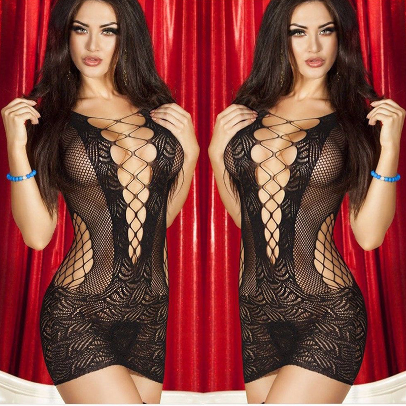 Sexy Lingerie Hot Erotic Women Transparent Roses Lace Sex Babydoll Dress Sexy Costumes Temptation Porn Sleepwear