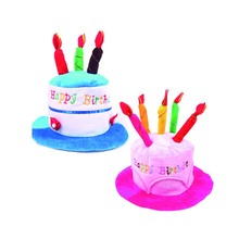 Halloween Christmas decoration adult kids Birthday Caps Hat with Cake Candles festival Party Costume Headwear