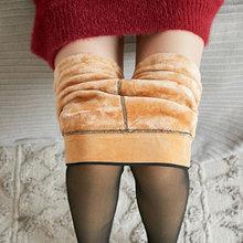 Normov inverno quente meia-calça feminina super elástico preto fino meia-calça para mulher casual moda mais veludo grosso collants