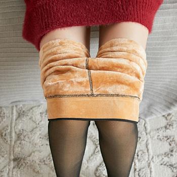 NORMOV zimowe ciepłe rajstopy damskie Super elastyczne czarne szczupłe rajstopy dla kobiet dorywczo mody Plus aksamitne grube rajstopy tanie i dobre opinie CN (pochodzenie) Stałe WOMEN Tights POLIESTER spandex NYLON STANDARD