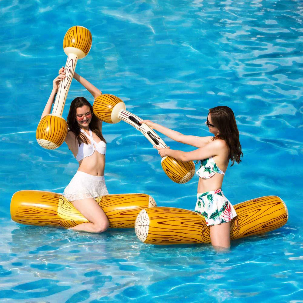 4Pcs/Set Inflatable Joust Swimming Pool Float Game Toys Water Sport Plaything For Children Adult Party Supply Gladiator Raft