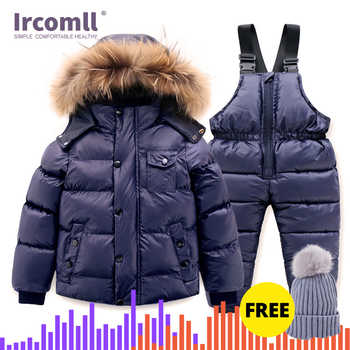 Ircomll Hight Quality Russia Winter Child Clothing Set Thick Cotton Down Waterproof Windproof Children Clothes Snow Wear Ski Su - DISCOUNT ITEM  50% OFF All Category