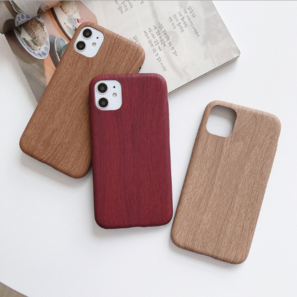 Fashion Wood Grain Soft Phone Case For Apple iPhone 11 11Pro Max X XR XS Max 8 7 6 6S Plus TPU Silicone Slim Cover Coque Fundas image