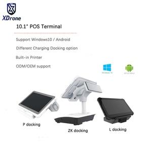 Оригинальный BR10PA 10,1 дюймовый планшетный ПК Android pos-терминал с 58 мм Термопринтер NFC Bluetooth wifi USB RJ45 RS232 двойной экран
