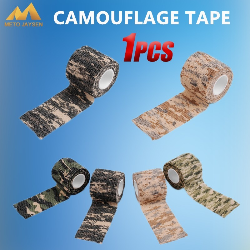 Hunting Shooting Cycling Tape Waterproof Camo Stealth Non-woven Tape Self-adhesive Camouflage Wrap Rifle 5cmx4.5m 1PCS=1LOT