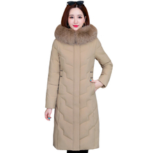 Winter Coat Down-Jacket Plus-Size Women Parkas Hooded Thicken Long Cotton High-Quality