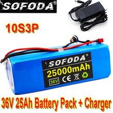 Литиевый аккумулятор высокой мощности 36 В 10S3P, 25 Ач, 500 Вт, 42 в, 18650, 25000 мАч, для электрического велосипеда, скутера, BMS + зарядное устройство