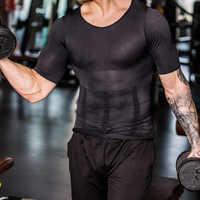 2020 homens corpo shapers apertado magro sem mangas camisa de fitness elástico beleza abdômen tanque topos forma coletes emagrecimento peitos ginásio colete