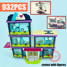 HeartLake Love Hospital Girls Fit Friends 41318 Figures City Model Building Blocks Bricks Kit Diy Toys Kid Gift Girls Birthday new playground series fits legoings creators city streetview set house figures model building kit bricks blocks diy gift kid toy