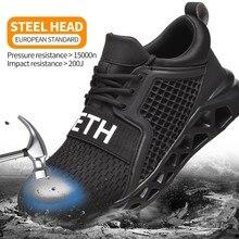 Męskie buty robocze bhp antyprzebiciowe buty robocze lekkie buty sportowe męskie niezniszczalne buty buty ochronne Zapato De Hombre